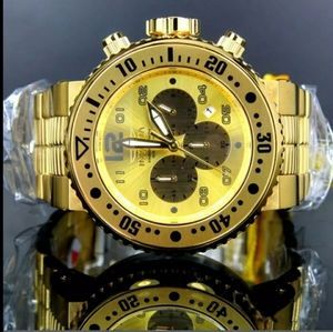 (FIRM PRICE)-1 IN STOCK-Invicta Gold Chronograph